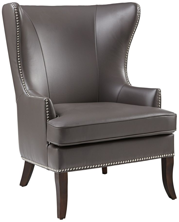 Royalton Grey Wingback Chair - EuroStyleLighting.com