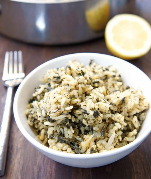... recently and it was super easy and delicious! Spanakorizo Greek Rice
