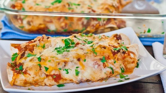 Quick and easy chicken enchiladas...nothing wrong with shortcuts ...
