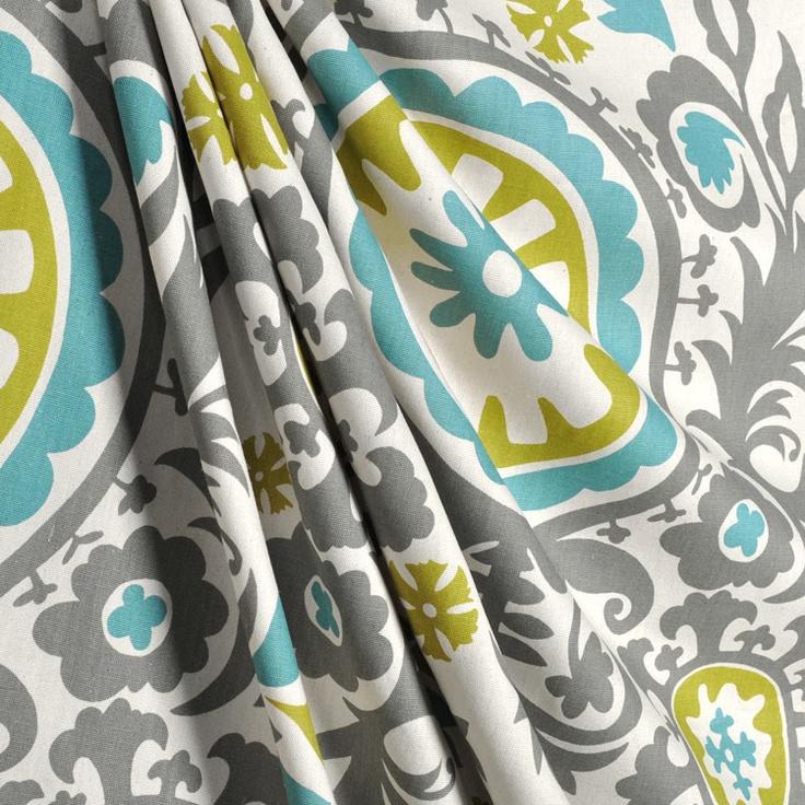 cool fabric DRAPERY PANELS CURTAINS- Premier Prints Suzani Summerland ...