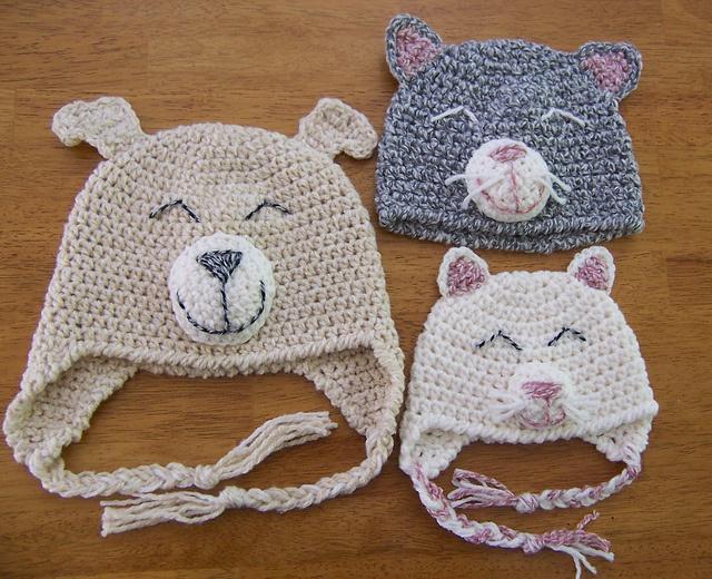 Crochet Animal Hats yarn crafts Pinterest