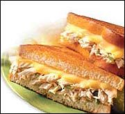 Hungry Girl Tuna Melt. Serving Size: 1 recipe  Calories: 255  Fat: 5.5g  Carbs: 23.5g  Fiber: 5g  Protein: 28g    *5 points