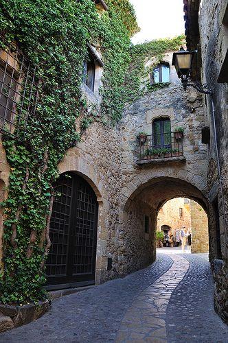 Cobblestone Street, Pals, Catalonia, Spain  photo by borjav