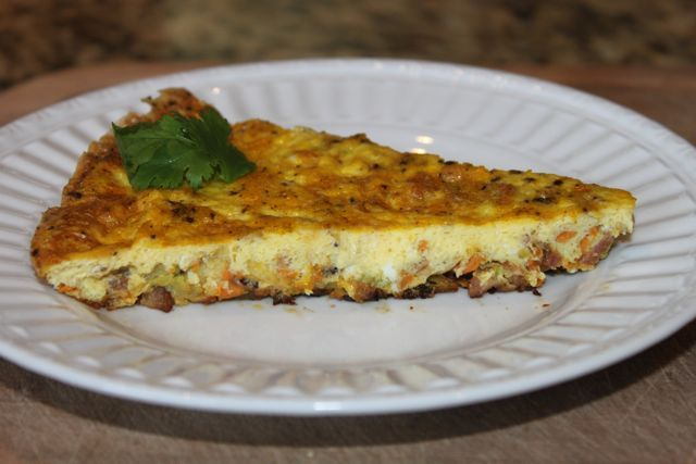 Sweet potato and zucchini frittata. (How could it not be great - it ...