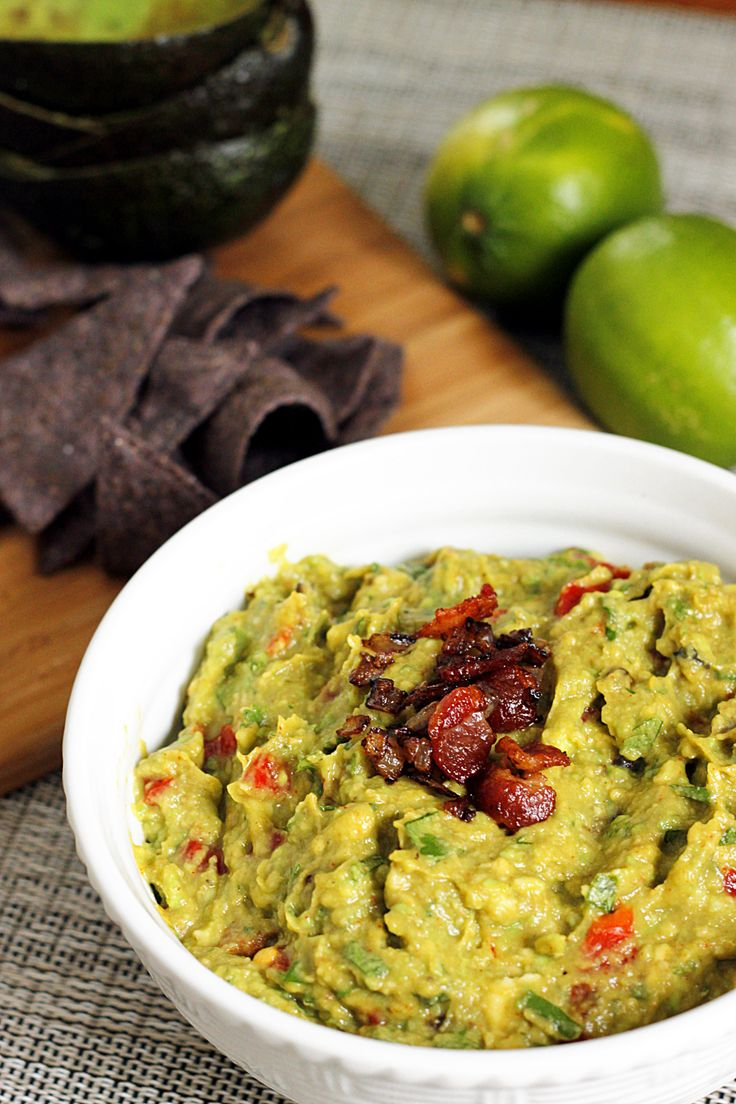 Roasted Garlic and Bacon Guacamole | Low Carb- Appetizers & Snacks ...