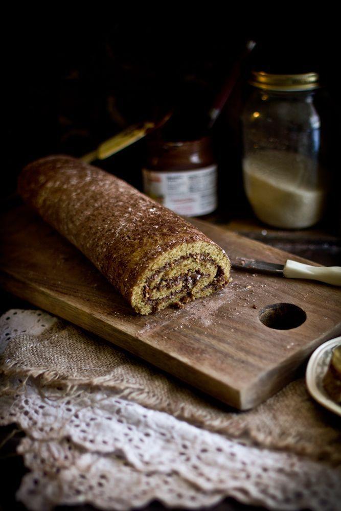 Roasted Hazelnut Nutella Roulade. | Nos gusta el Dulce. We love Pastr ...