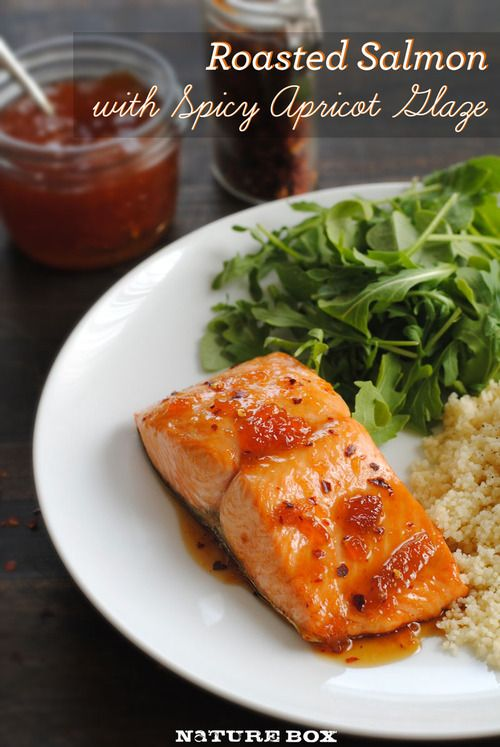 Roasted Salmon with Spicy Apricot Glaze: apricot preserves, soy sauce ...