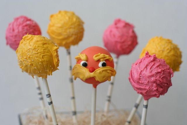Lorax and Truffula Tree Cake Pops by Sweet Lauren Cakes, via Flickr