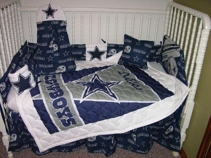 crib bedding nursery set made w dallas cowboys double batting so cu