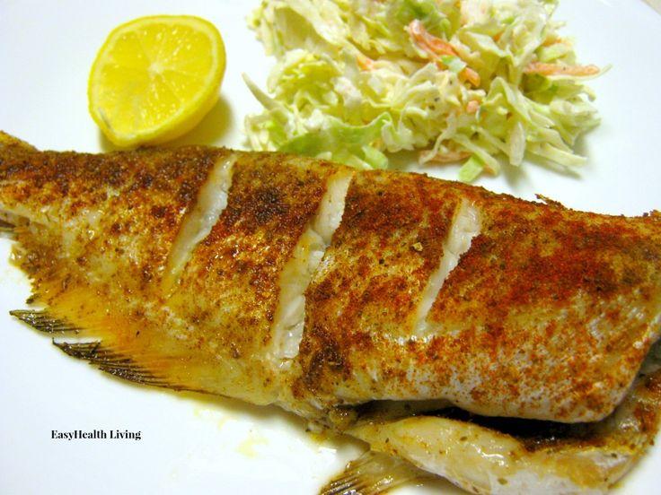 Whole baked catfish with cajun seasoning delicious food for Baked fish seasoning