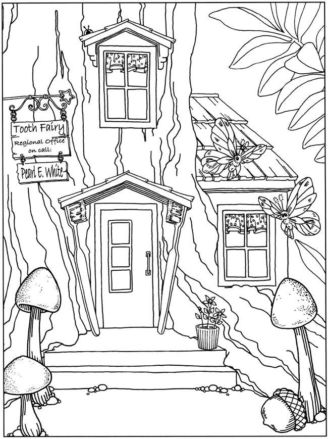 Whimsical Fairy Garden Coloring Pages Coloring Pages