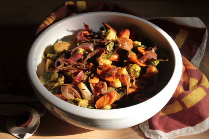 Roasted Brussel Sprouts with Chorizo | Mangia | Pinterest