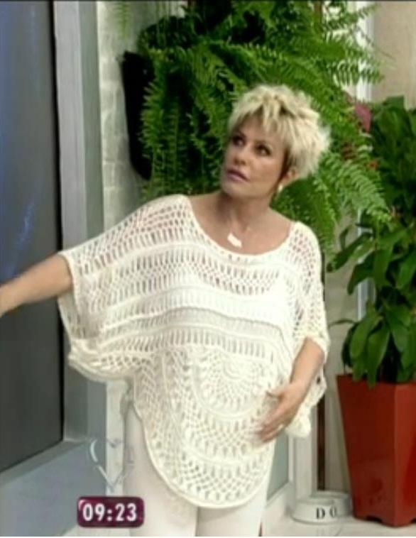 Blusa Crochê de Grampo, Ana Maria Braga