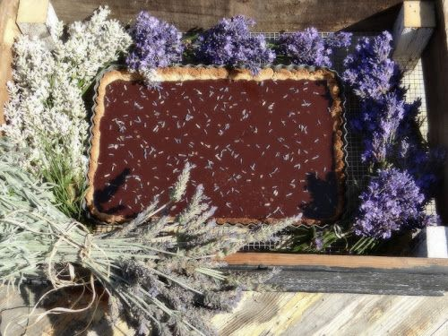 lavender chocolate cardamon tart | Lavender | Pinterest