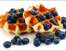 four-inch, whole-grain waffle with 1/2 cup of frozen vanilla yogurt ...