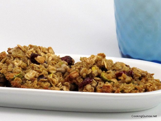 Quinoa Crunchy Nut Clusters - i have a bunch of quinoa I don't know ...
