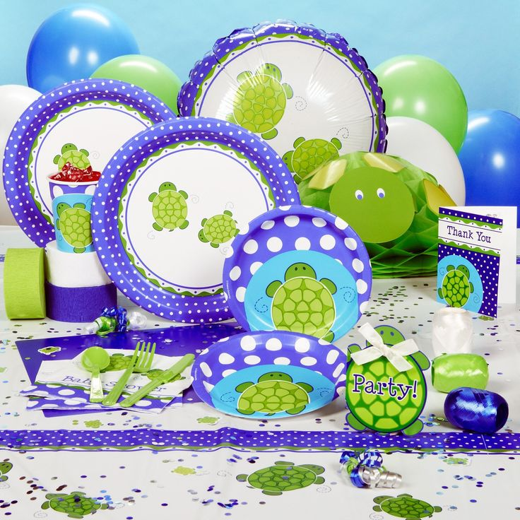 Turtle baby shower theme baby shower ideas pinterest for Baby shower party decoration
