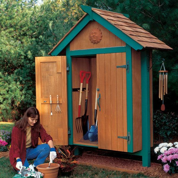Mini Garden Shed Woodworking Plan Outdoors Pinterest