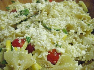 Tomato, Zucchini, and Feta Pasta Salad | Food & Drink | Pinterest