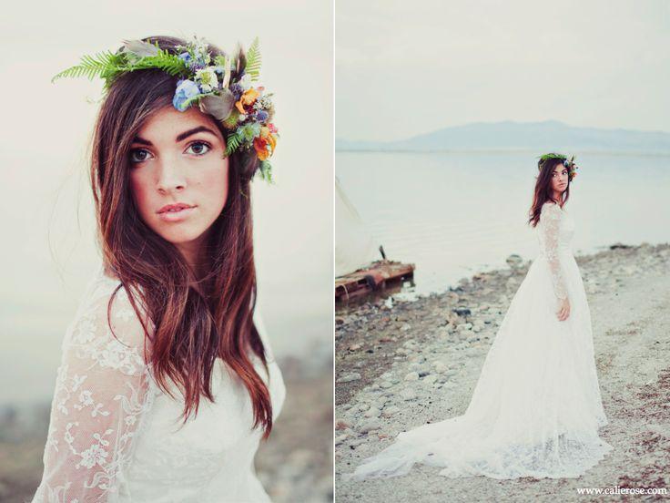 Wedding Bouquet Beach Inspired Sea Shell Flower Halo Utah Wedding