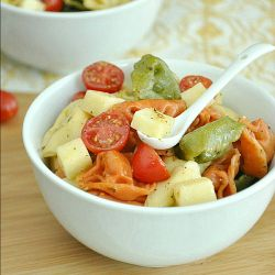 Tortellini Pasta Salad with a zesty homemade dressing!