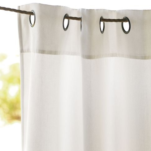 Use Rope To Hang Outdoor Curtains For The Home Pinterest