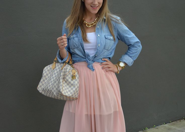 dressing up chambray