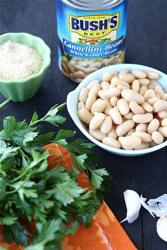 "... Cannellini Bean Vegetarian ""Meatballs"" with Tomato Sauce Recipe"