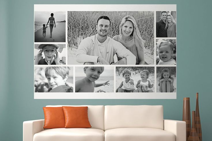 WeMontage - Put your family photos on removable wallpaper!