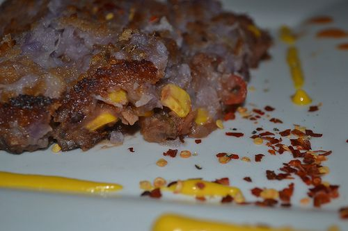 Veg shepherd's pie using purple Hawaiian sweet potato, purple carrots ...