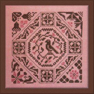 Jardin priv cross stitch samplers freebies quakers for Jardin prive