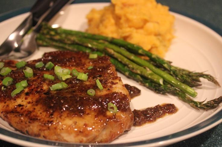 Maple & Mustard Glazed Pork Chops @Laura Goguet