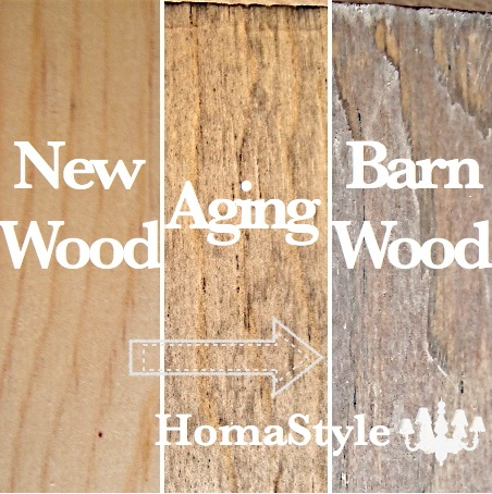 how to turn new wood into barnwood