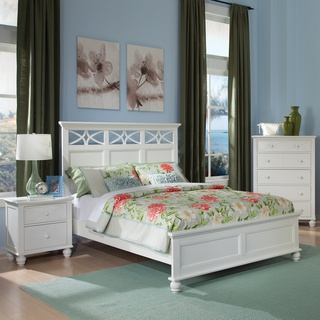 ETHAN HOME Piston 5 Piece White Rubberwood Bedroom Set