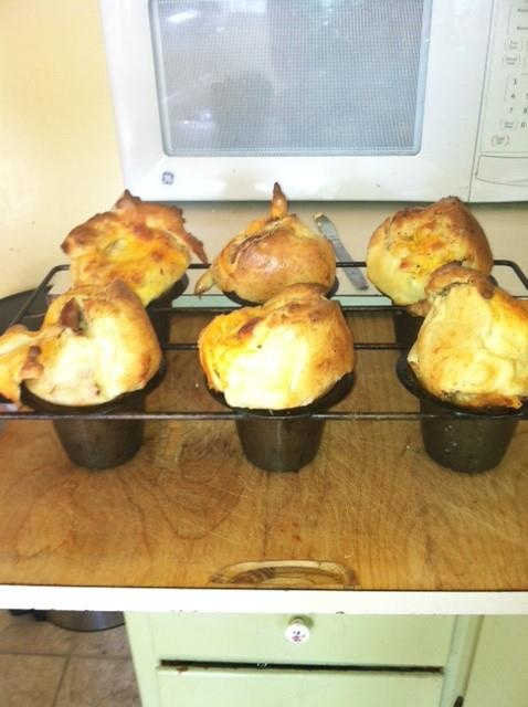 Bacon Popovers! by Stacey Herriott Oven at 400 Degrees Butter Popover ...