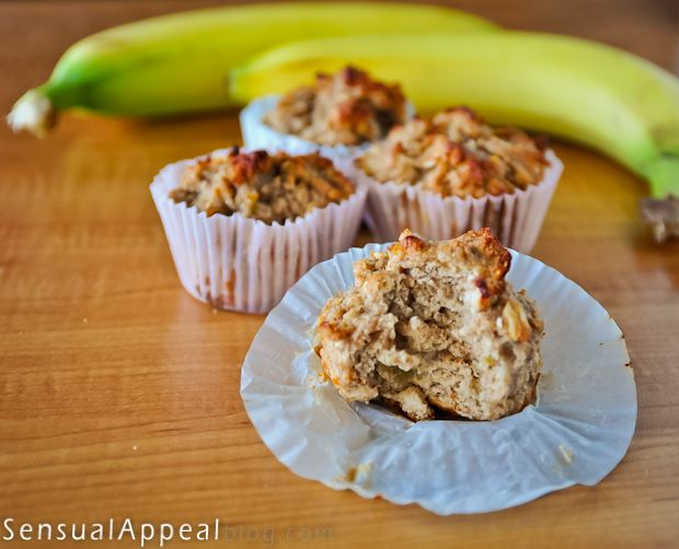Healthy Banana Bread Muffins Recipe – I love healthy muffins!