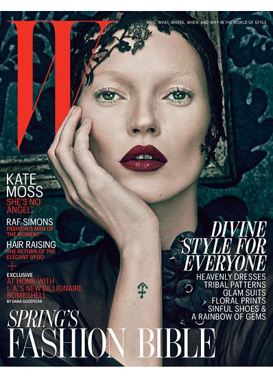 """""""Bad"""" Kate Moss for W Magazine's March cover"""
