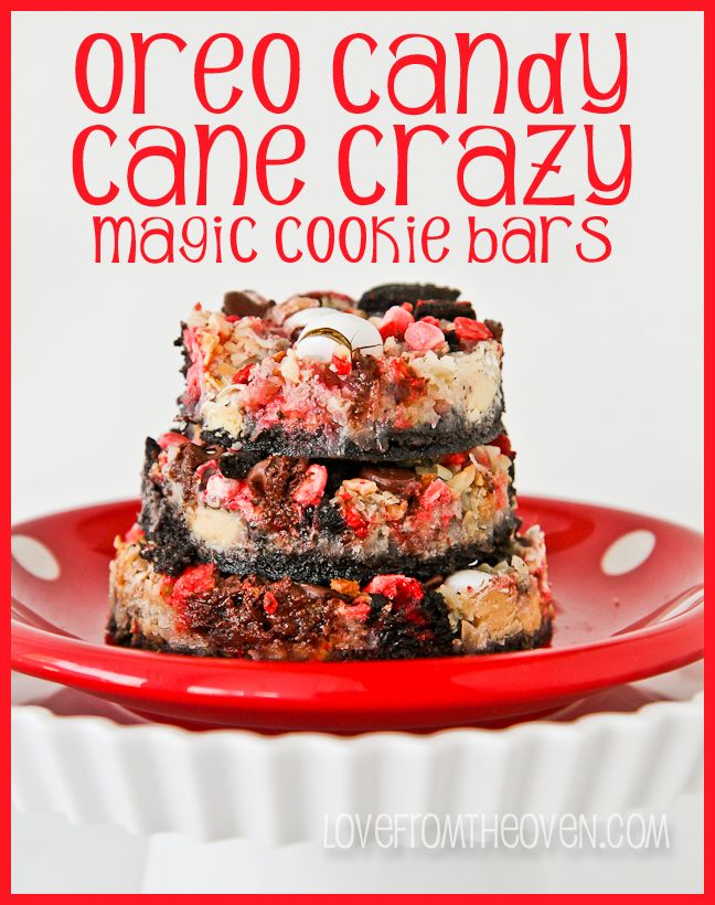 Oreo Candy Cane Crazy Seven Layer Bars by Love From The Oven