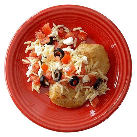Greek Orzo Chicken | Yummy | Pinterest