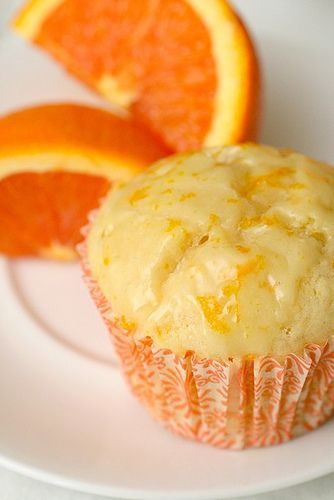 Orange Muffins - another pinned says: simply amazing (the glaze is a must),