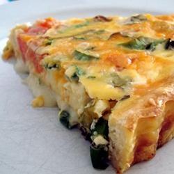 Spinach & Cheese Crustless Quiche | Breakfast Recipes | Pinterest