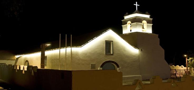 Iluminación de hitos patrimoniales - Iglesia de San Pedro de Atacama - Chile