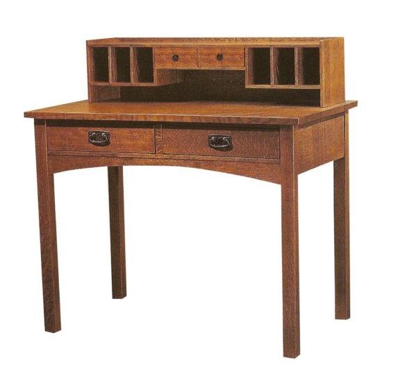 Mission oak desk mission style craftsman arts for Craftsman style desk plans