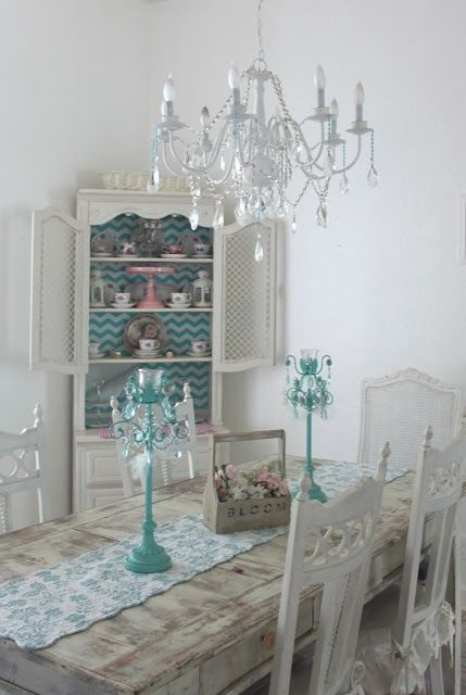 Shabby Chic Room Cottage Dining Rooms Pinterest