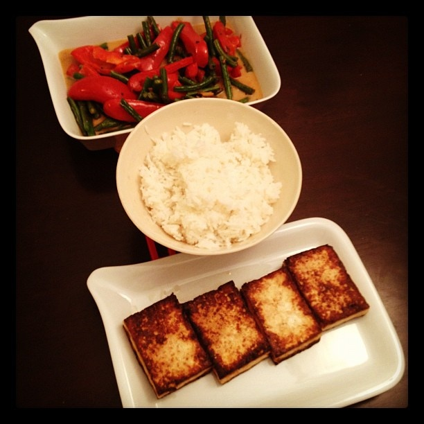 Seared Tofu with with Green Beans and Asian Coconut Sauce | Recipe