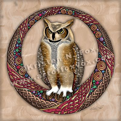 Celtic Owl by ~foxvox