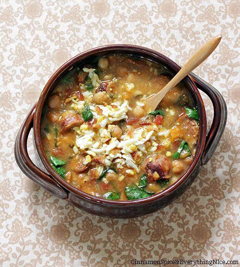 Spanish Chickpea and Chorizo Soup | Recipe