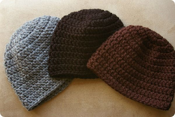 Basic Crochet Pattern For Hat : FREE simple crochet hat pattern. Crochet Pinterest