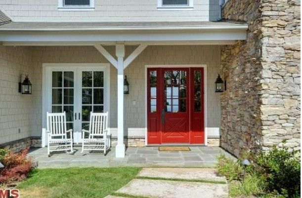 Red Door Outside Home Pinterest