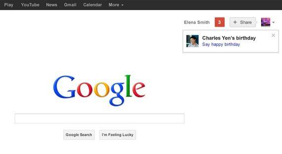Google begins reminding users of friends' birthdays. http://cnet.co/O1V2eV